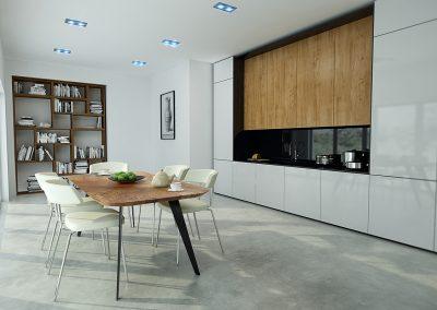 enke table and jorden shelving